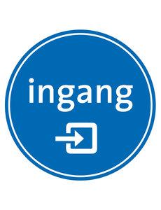 Virupa Vloersticker rond blauw 'Ingang'