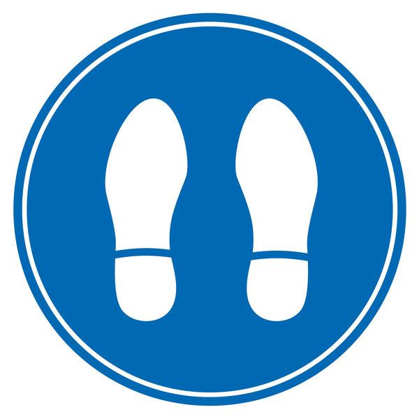 Virupa Vloersticker rond blauw voetjes