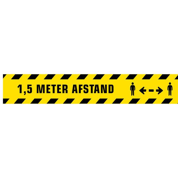 Virupa Vloerstickers strook geel '1,5 meter'