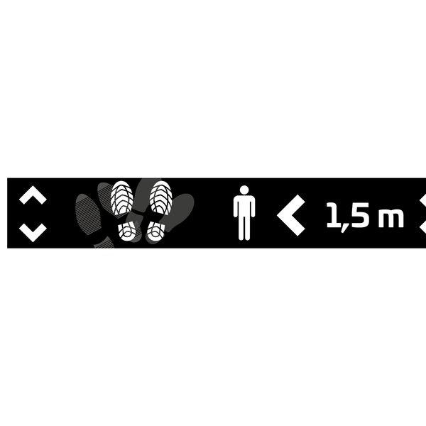 Virupa Vloersticker strook zwart '1,5 meter'