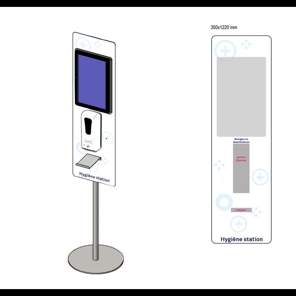 Virupa Hygiëne station compact - Digitaal Scherm