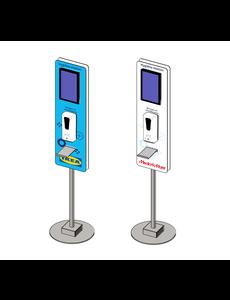 Virupa Hygiëne station compact Digital Signage - Narrowcasting - Met  eigen logo