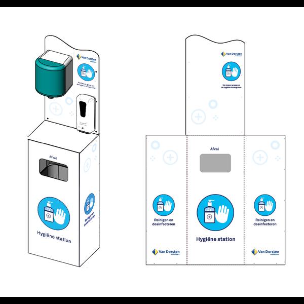 Virupa Hygiëne station compleet automatische dispener - Met eigen logo