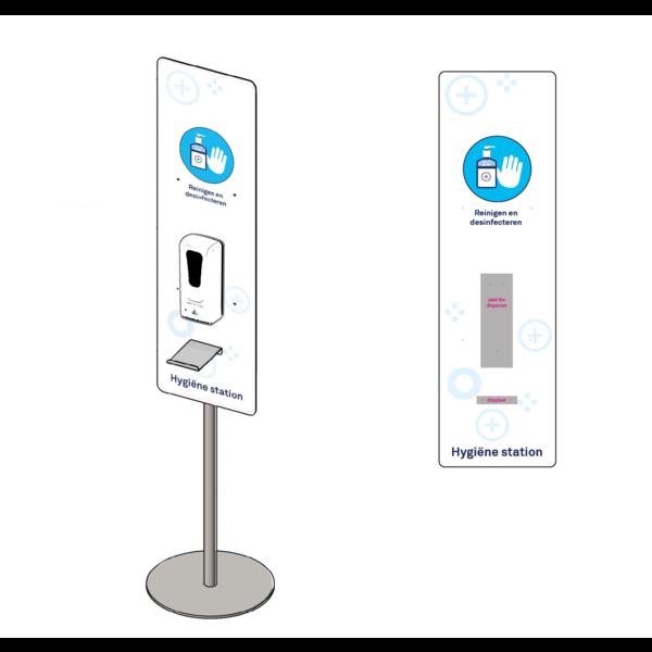 Virupa Hygiëne station compact  automatische dispenser met sensor en druppelvanger