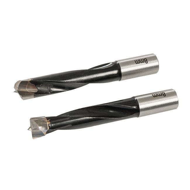 Triton 8 mm deuvelmachine boor bits, 2 stuks TDJDB8
