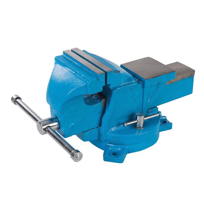Silverline Draaiende ingenieurs bankschroef, 100 mm Kaak capaciteit 120 mm, 8 kg
