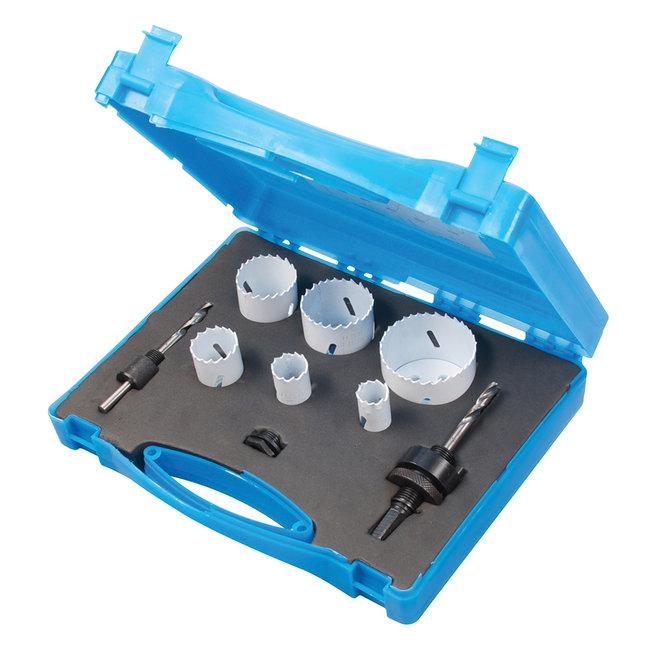 Silverline 9-delige loodgieters bimetalen gatenzaag set 19 - 57 mm dia.