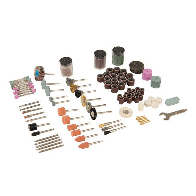 Silverline 216-delige hobby machine accessoire set 3,17 mm spandoorn