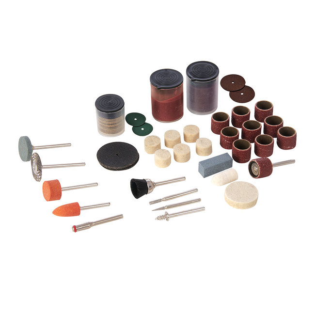 Silverline 105-delige hobby machine accessoire set 3,17 mm spandoorn
