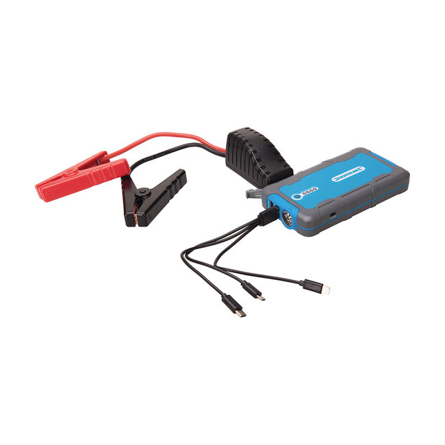 Silverline 12 V Lithium Powerbank en jumpstarter 6000 mAh, 400 A