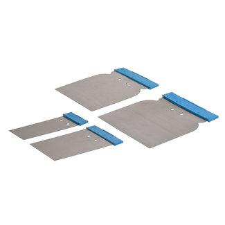 Silverline 4-delige carosserie plamuurmessen set 50, 80, 100 en 120 mm
