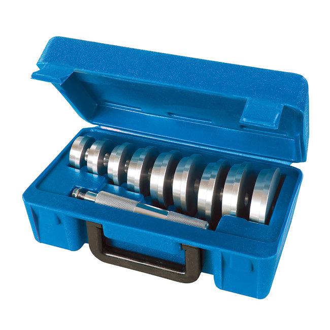 Silverline 10-delige wiellager montage set 40 - 81 mm