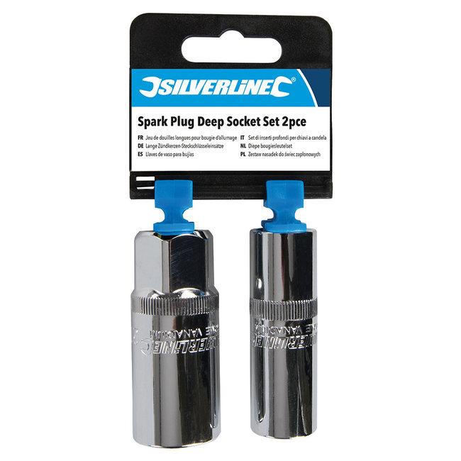 "Silverline 2-delige diepe bougiesleutelset 1/2"""