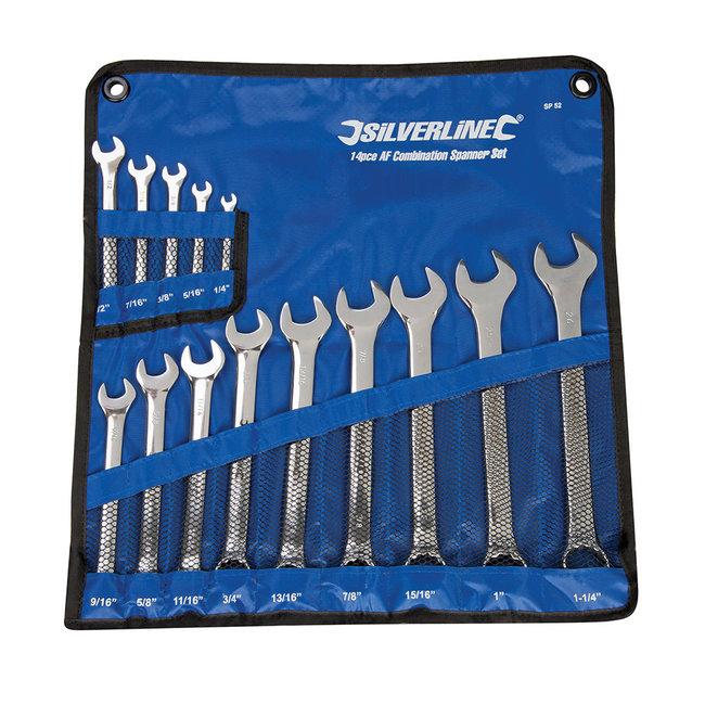 """Silverline 14-delige steekringsleutel set 1/4 - 1-1/4"""""""