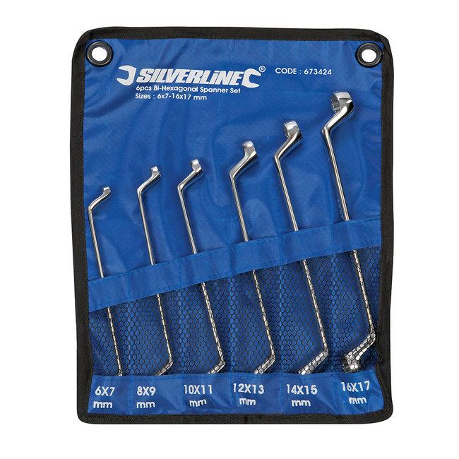 Silverline 6-delige offset ringsleutel set 6 - 17 mm
