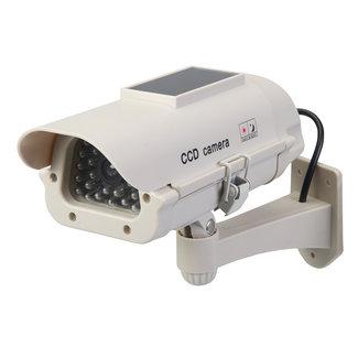 Silverline Zonnepaneel aangedreven dummy CCTV beveiligingscamera met LED Zonnepaneel aangedreven