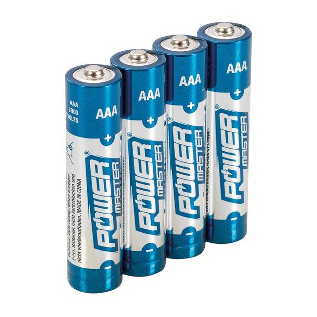 Powermaster AAA super alkaline batterij LR03, 4 pak