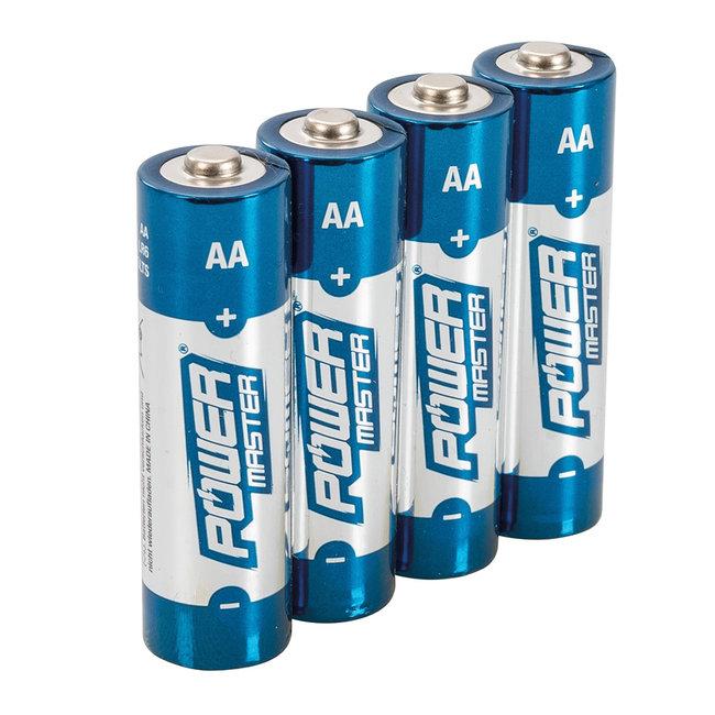 Powermaster AA super alkaline batterij LR6, 4 pk. 4 pk.