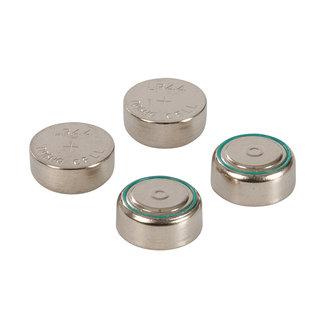 Powermaster Alkaline knoopcel batterij LR44, 4 pak