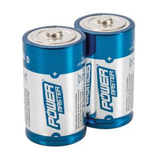Powermaster Type D super alkaline batterij LR20, 2 pk. 2 pk.