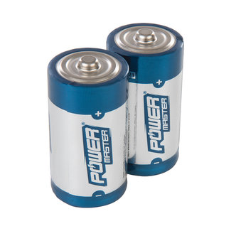 Powermaster Type C super alkaline batterij LR14, 2 pak