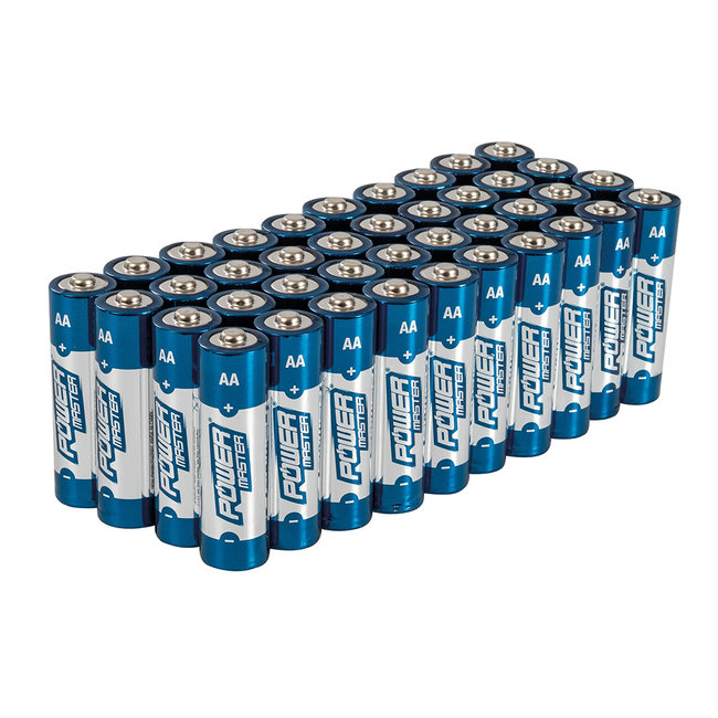 Powermaster AA super alkaline batterij LR6, 40 pak