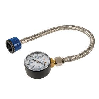 Silverline Waterdrukmeter met roestvrijstalen slang 0 - 11 bar