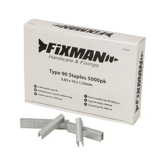 Fixman Type 90 nietjes, 5000 pak 5,80 x 10 x 1,25 mm