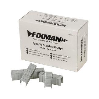 Fixman Type 53 nietjes, 5000 pak 11,25 x 14 x 0,75 mm
