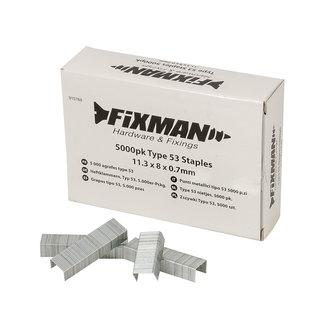 Fixman Type 53 nietjes, 5000 pak 11,25 x 8 x 0,75 mm