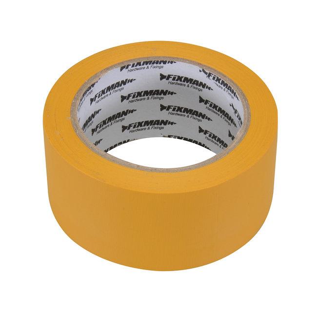Fixman Bouwtape 50 mm x 33 m, geel