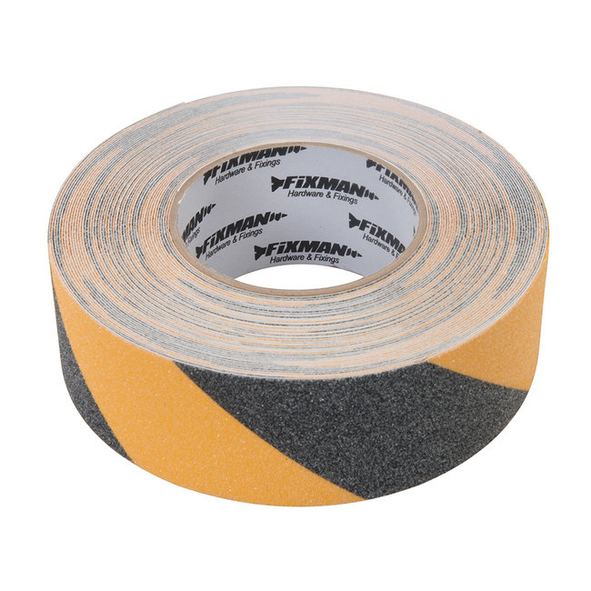 Fixman Antislip tape 50 mm x 18 m, zwart/geel