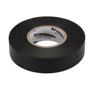 Fixman Isolatietape 19 mm x 33 m, zwart