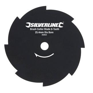 Silverline Bosmaaierblad met 8 tanden 254 mm asgat, dia: 25,4 mm