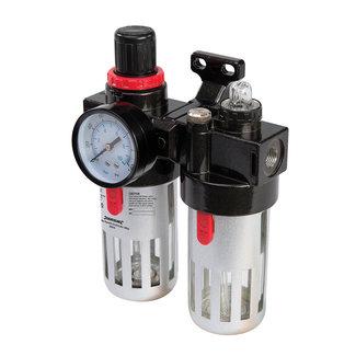 Silverline Luchtfilter drukregelaar en olievernevelaar 150 ml