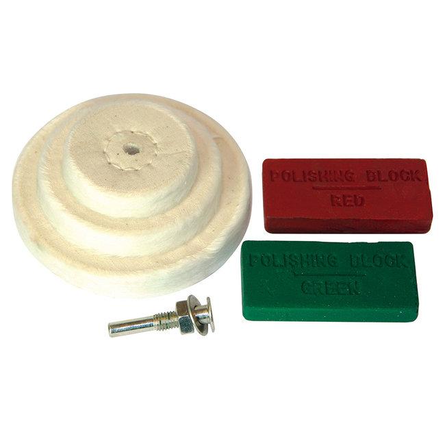 Silverline 6 delige polijst set 50, 75, 100 mm
