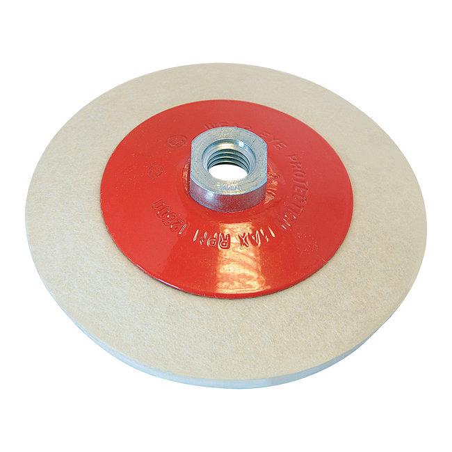 Silverline Afgeschuind vilt polijstwiel 115 mm