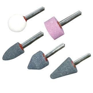 Silverline 5 delige slijpstenen set 6 mm schacht