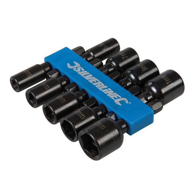 Silverline 9 delige magnetische dopsleutel set 5 - 12 mm