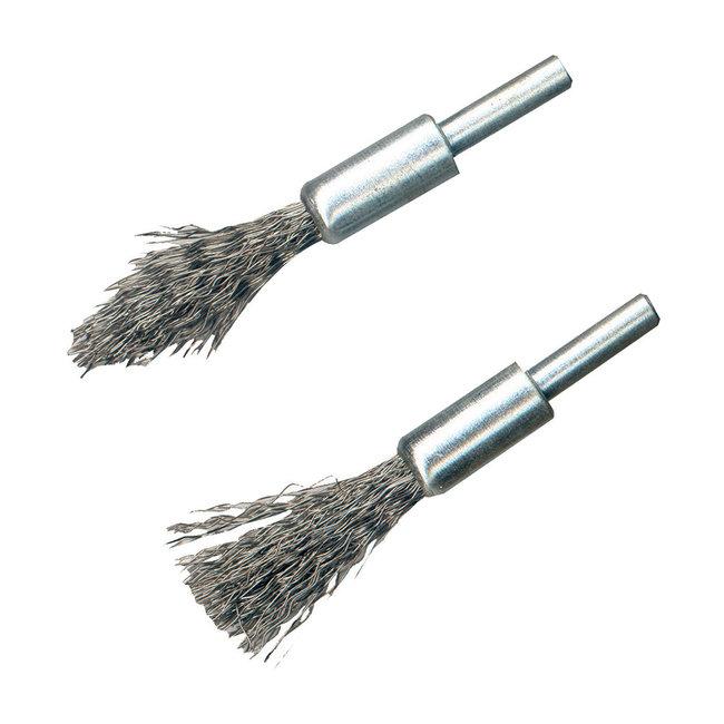 Silverline 2 delige stalen penseelborstel set 6 mm schacht
