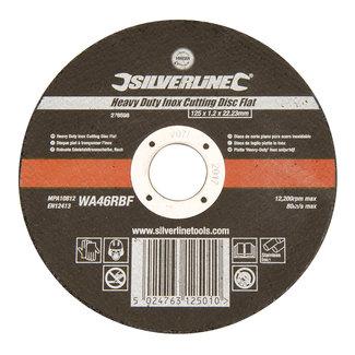Silverline Heavy-Duty' Inox snijschijf, plat 125 x 1,2 x 22,23 mm