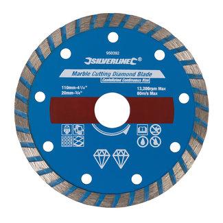 Silverline Diamant marmer zaagblad 110 x 2,7 x 20 mm, gesloten velg