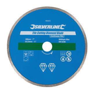 Silverline Diamant tegel snijschijf 180 x 22,23 mm, gesloten velg