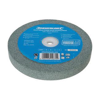 Silverline Groen siliciumcarbide tafelslijpmachinewiel 150 x 20 mm, Medium