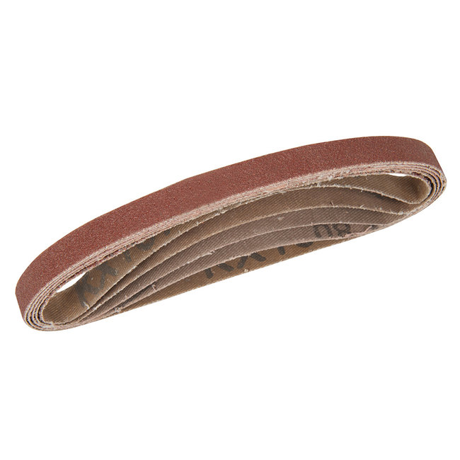 Silverline 10 x 330 mm schuurbanden, 5 pak 40, 60, 2 x 80, 120 korrelmaten