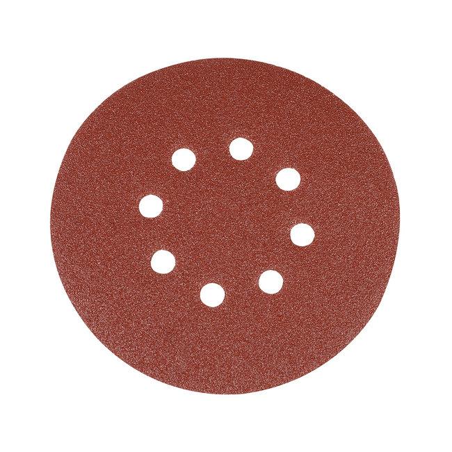 Silverline 150 mm geperforeerde klittenband schuurschijven, 10 pak 80 korrelmaat