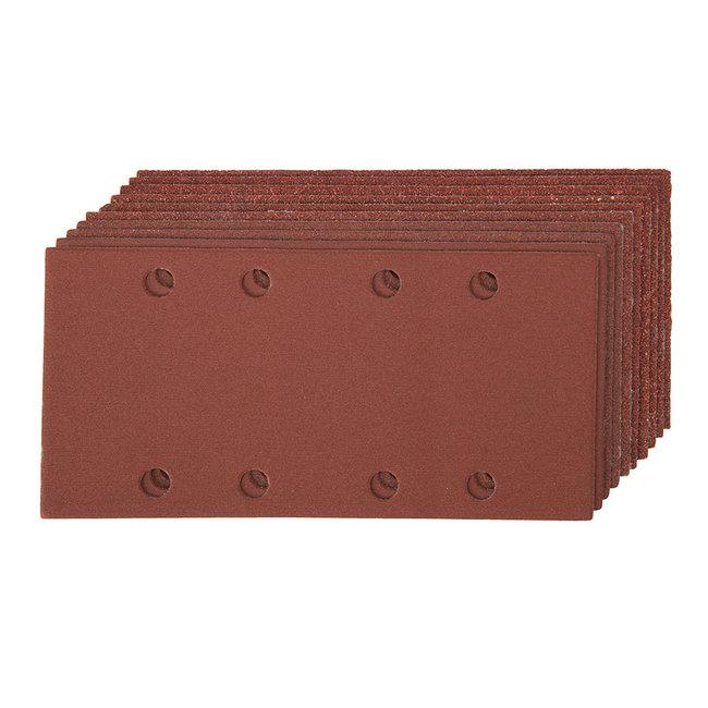 Silverline 93 x 190 mm geperforeerde klittenband schuurvellen, 10 pak 2 x 60, 3 x 80, 120, 2 x 240 korrelmaten