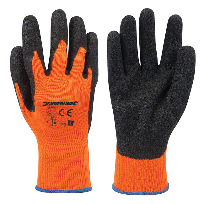 Silverline Felgekleurde oranje bouwhandschoenen L 10