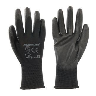 Silverline Handschoen met zwarte handpalm L 10