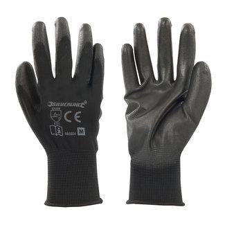Silverline Handschoen met zwarte handpalm M 9